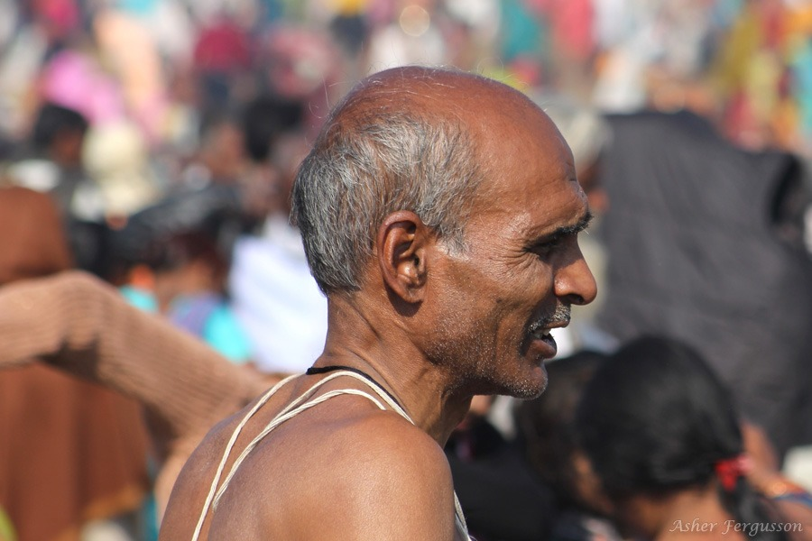 Bathing in the Ganges, Allahabad, Kumbha Mela
