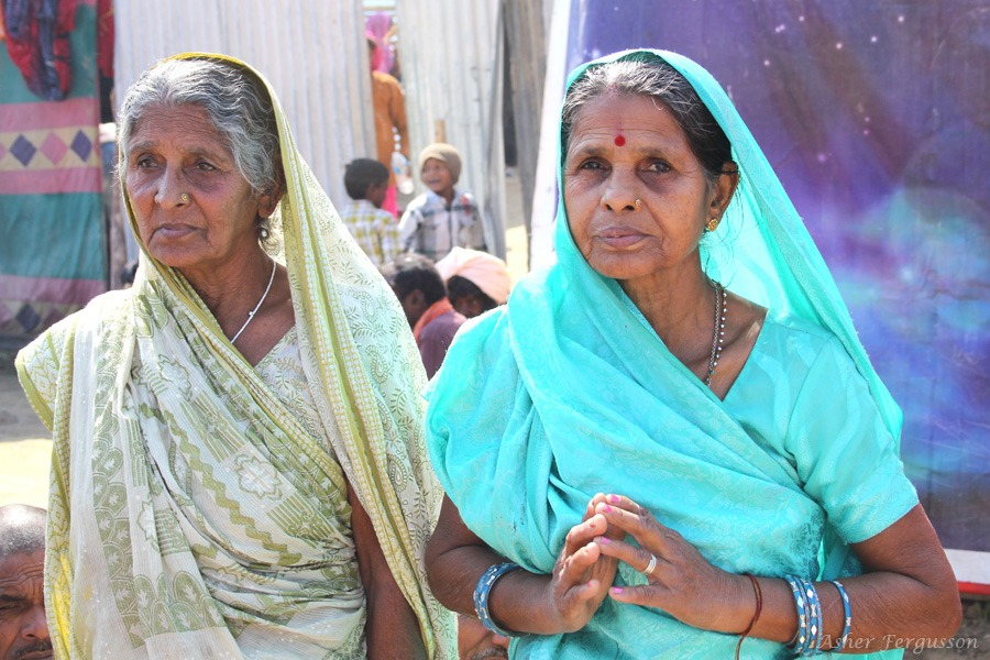 Two Indian Grandmothers serene