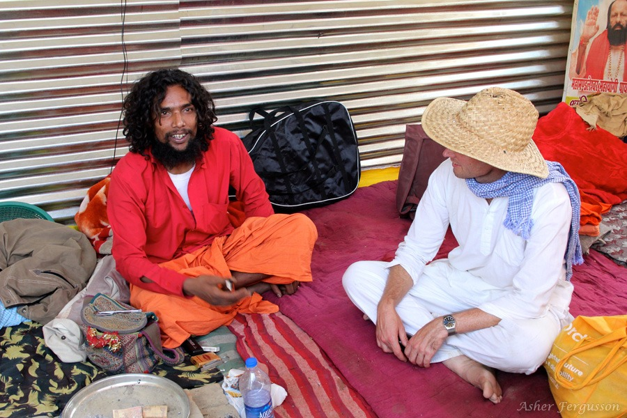 pot smoking sadhu marijuana