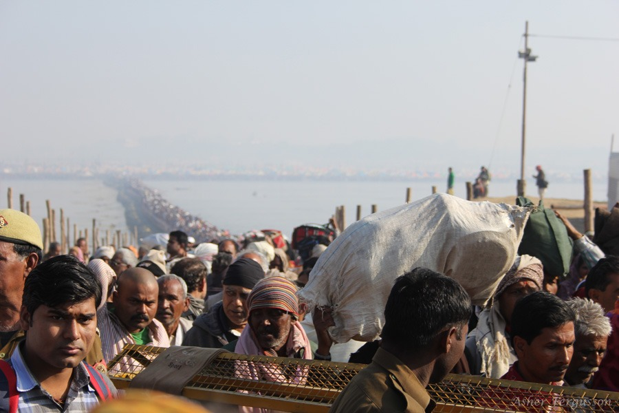 So many people at the Kumbha Mela India