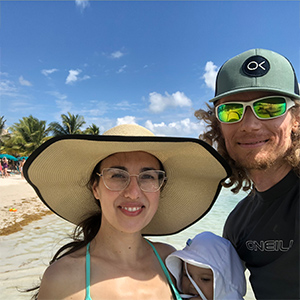 asher and lyric in Mexico at the beach